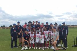 England Under 19's spend a day at South African township