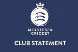 MIDDLESEX CONFIRM SUBMISSIONS MADE TO CRICKET DISCIPLINARY COMMISSION