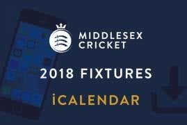 Middlesex 2018 Fixtures iCalendar now available!
