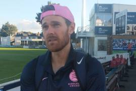 JAMES HARRIS INTERVIEW AFTER DAY ONE OF BOB WILLIS TROPHY ACTION AGAINST ESSEX