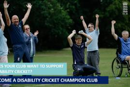 BECOME A MIDDLESEX DISABILITY CRICKET CHAMPION CLUB