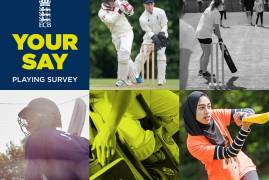 TAKE PART IN THE ECB'S 2019 CRICKET PLAYING SURVEY AND HAVE YOUR SAY