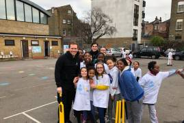 EOIN MORGAN LAUNCHES ICC CRICKET WORLD CUP 'CHANCE TO SHINE' PROGRAMMES AT GRAFTON PRIMARY SCHOOL