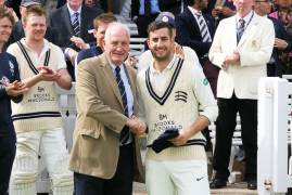 MIDDLESEX CRICKET TODAY AWARDED STEPHEN ESKINAZI HIS COUNTY CAP
