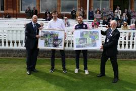 STEVEN FINN & JAMES HARRIS SAY FAREWELL TO MIDDLESEX AT LORD'S TODAY