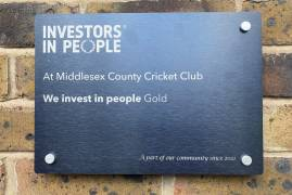 MIDDLESEX CRICKET WIN WE INVEST IN APPRENTICES GOLD AWARD