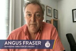 MD OF CRICKET, ANGUS FRASER, GIVES AN UPDATE ON MIDDLESEX CRICKET