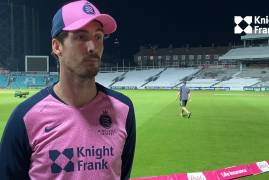 STEVEN FINN INTERVIEW AFTER VITALITY BLAST LONDON DERBY AT THE OVAL