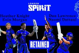 MORGAN AND DATTANI NAMED IN 2021 LONDON SPIRIT HUNDRED SQUADS