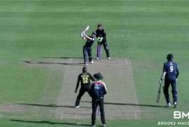 SOMERSET VS MIDDLESEX MATCH ACTION