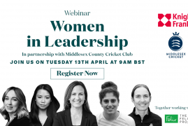 WOMEN IN LEADERSHIP WEBINAR WITH KNIGHT FRANK