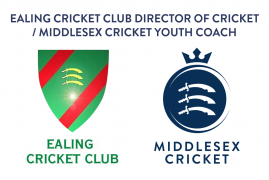 JOB VACANCY - EALING CC DIRECTOR OF CRICKET/MIDDLESEX CRICKET YOUTH COACH