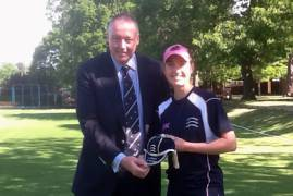 Beth Morgan brings up the hundred for Middlesex