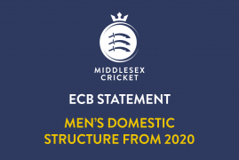 ECB STATEMENT REGARDING MEN'S DOMESTIC STRUCTURE FROM 2020