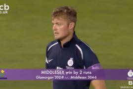 GLAMORGAN V MIDDLESEX - ONE-DAY CUP MATCH ACTION