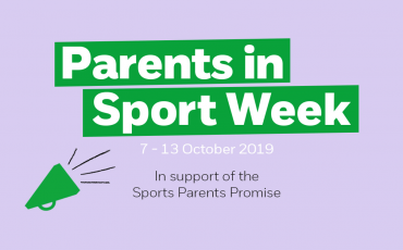 MAKE THE SPORTS PARENTS PROMISE AS PART OF PARENTS IN SPORT WEEK