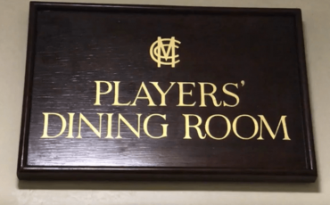 FOUR PLAYERS COOKED UP A FEAST TODAY IN LORD'S PLAYERS' DINING ROOM